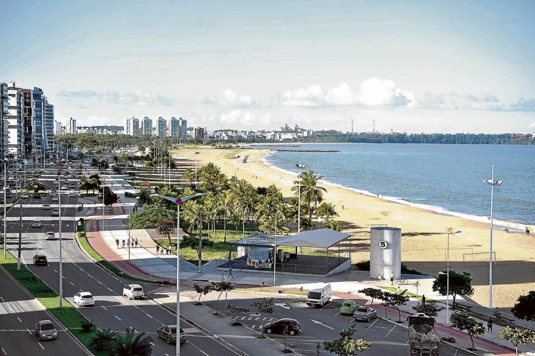 Praia de Camburi, na Capital: mobilidade,  meio ambiente e tecnologia estão entre os itens avaliados. Crédito: Fernando Madeira