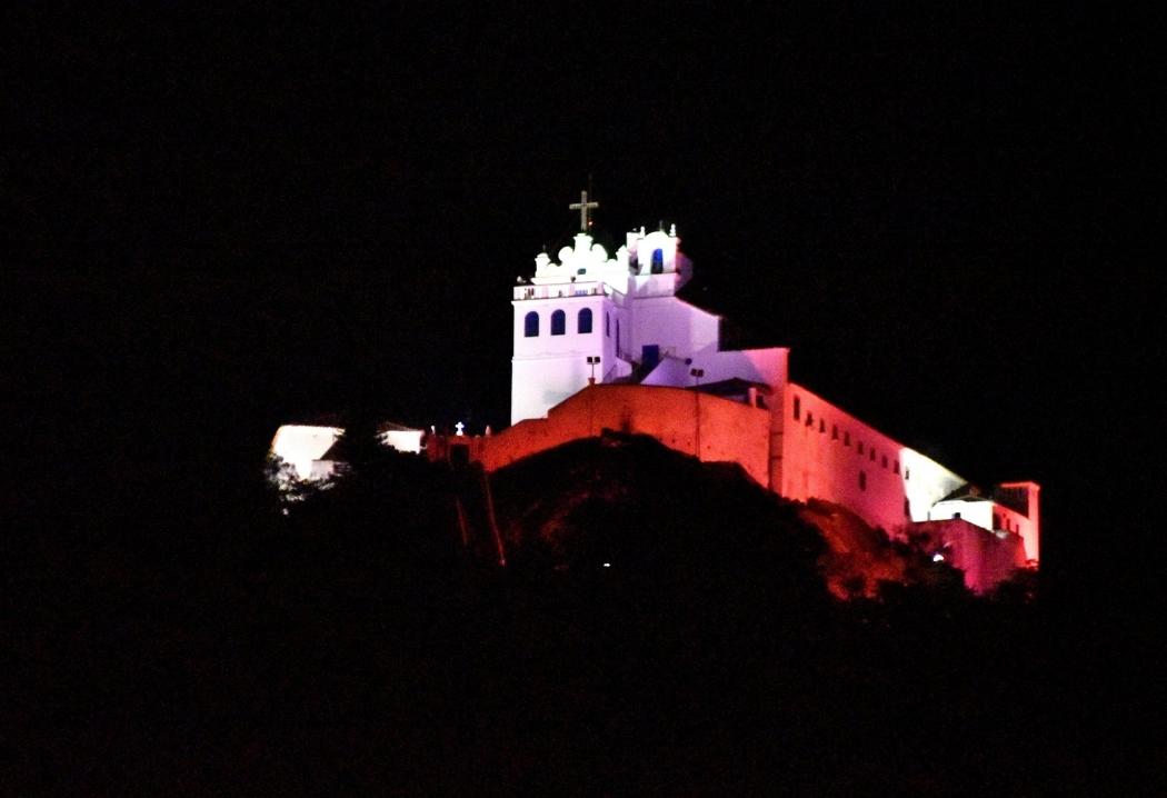O Convento ficará mais visível à noite. Crédito: Gazeta Online