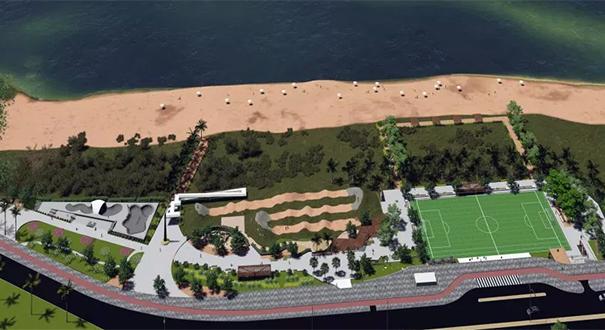 Projeto do Parque Atlântica, em Camburi, Vitória. Crédito: Divulgação