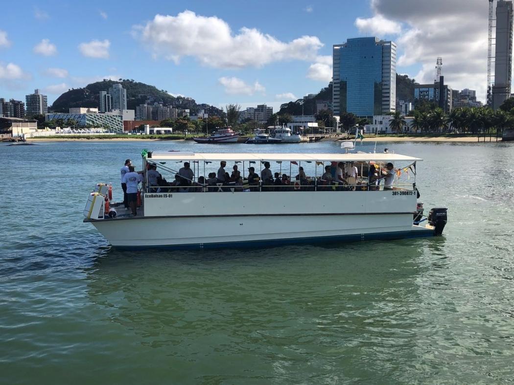 Uma das embarcações das Ecobalsas. Crédito: Divulgação