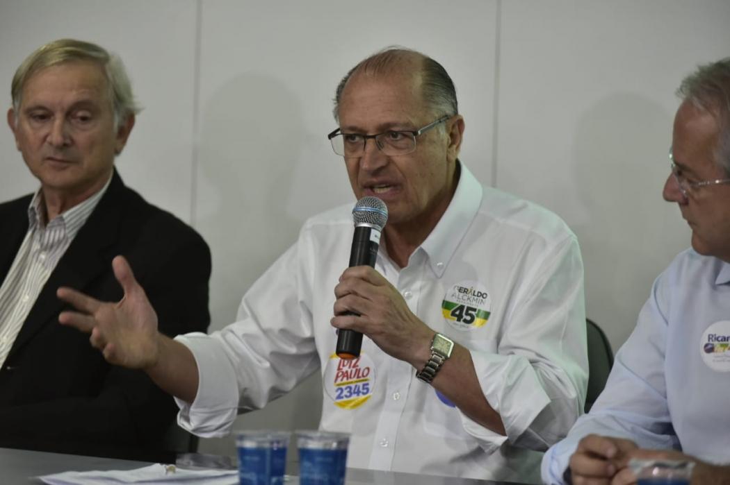 Geraldo Alckmin falou com empresários em visita ao Espírito Santo. Crédito: Marcelo Prest