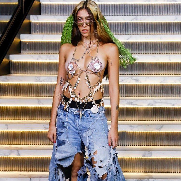 Lourdes Maria Leon, filha de Madonna, no fashion week de Nova York, nos Estados Unidos