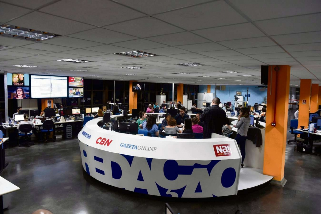 Redação Multimídia da Rede Gazeta. Crédito: Vitor Jubini