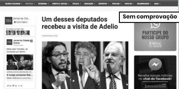 Adélio esteve na Câmara em 2013 mas ainda não se sabe se visitou deputados do PSOL  . Crédito: Reprodução