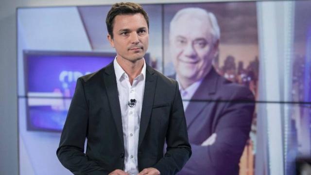 Diego Esteves, filho do jornalista Marcelo Rezende. Crédito: Edu Moraes/Divulgação/Record TV