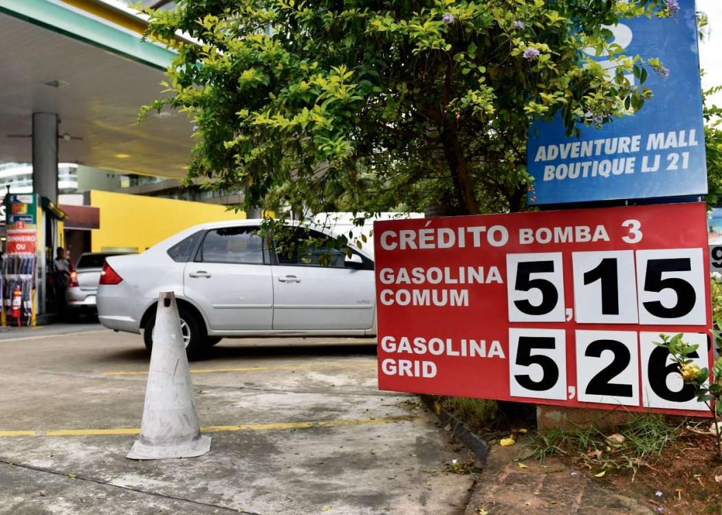 Gasolina atingiu R$ 5,15 em posto de Vila Velha. Crédito: Fernando Madeira