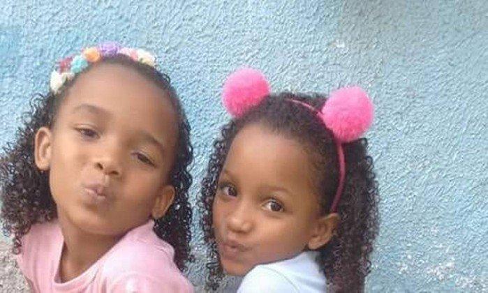 Meninas foram mortas junto com a avó na Cidade de Deus . Crédito: Facebook/Reprodução