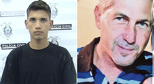 Dionathas Alves Vieira e Hermenegildo Palaoro foram indiciados por um assassinato em Laranja da Terra. Crédito: Montagem | Gazeta Online
