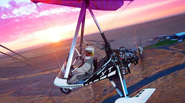Modelo Trike (Asa-delta motorizada) usada por dupla que desapareceu após decolar em Linhares. Crédito: Imagem genérica