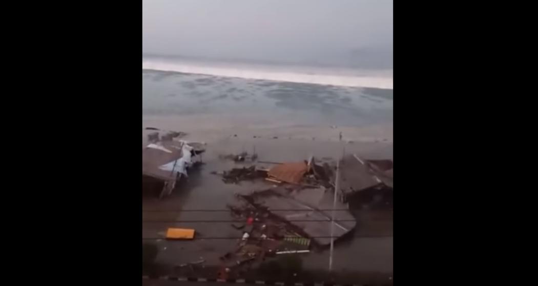 Terremoto e tsunami na Indonésia. Crédito: Reprodução/YouTube