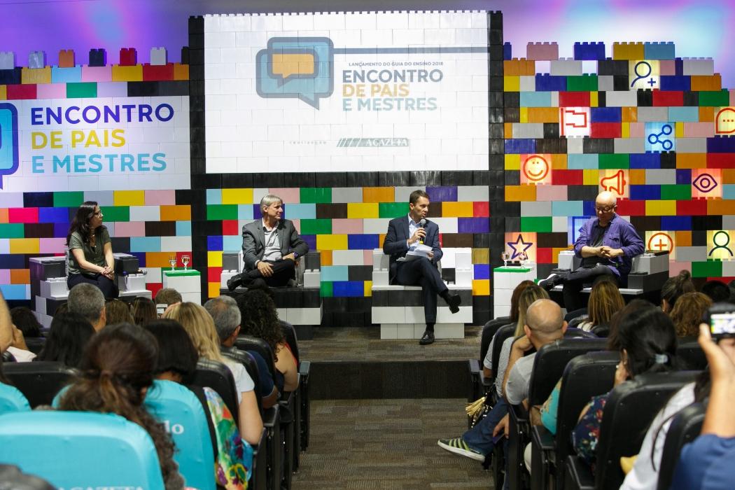 Encontro de Pais e Mestres, promovido pela Rede Gazeta, aconteceu nesta quarta-feira (3) no auditório da empresa. Crédito: Adessandro Reis