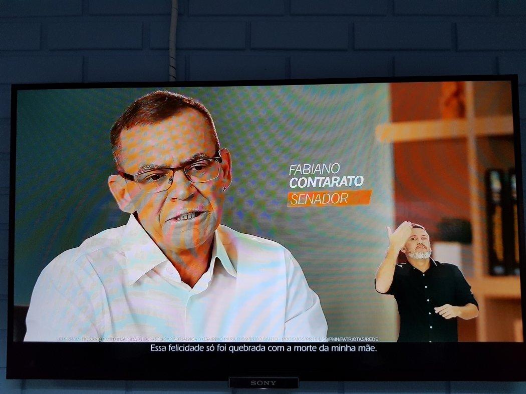 O delegado Fabiano Contarato concorre ao Senado pela Rede. Crédito: Reprodução TV