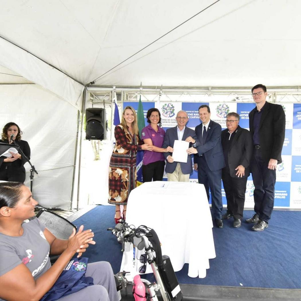O lançamento do edital do Bolsa Atleta aconteceu na sede da Sesport. Crédito: Leo Duarte/Sesport