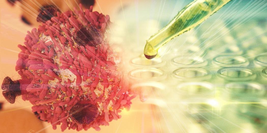 Célula cancerosa recebendo a imunoterapia: melhor arma contra a doença. Crédito: Shutterstock