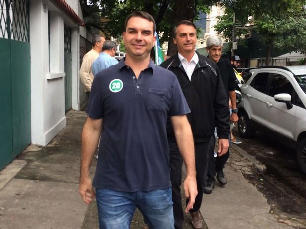 Flávio Bolsonaro diz que não fez nada de errado. Crédito: Fernanda Rouvenat /G1