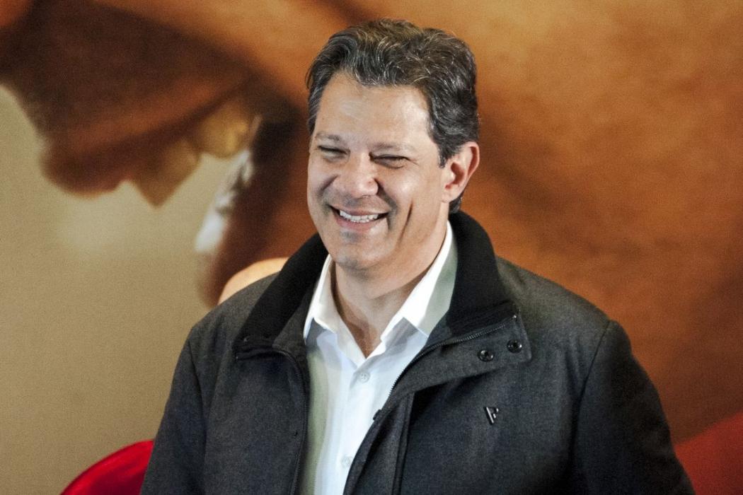 O candidato à Presidência da República, Fernando Haddad, durante declaração após resultado do primeiro turno das eleições. Crédito: Marcelo Camargo/Agência Brasil