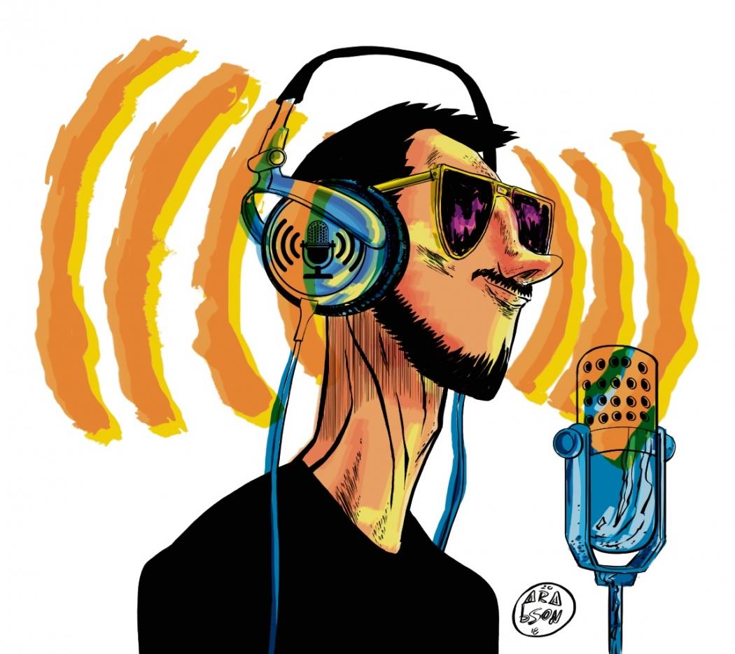 O podcast apresenta uma cartela variada de temas e assuntos. Crédito: Arabson