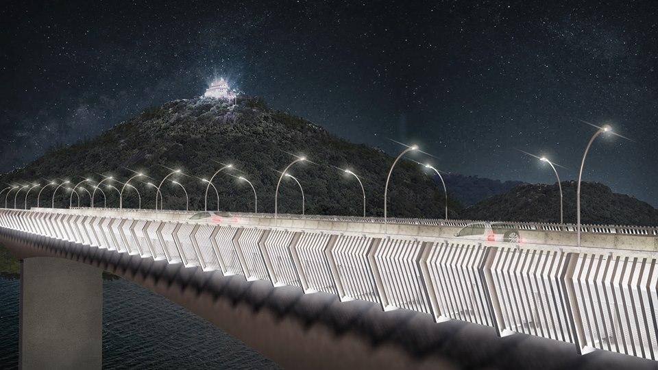 Terceira Ponte com nova proposta de barreira de proteção. Crédito: Divulgação/ANGATU