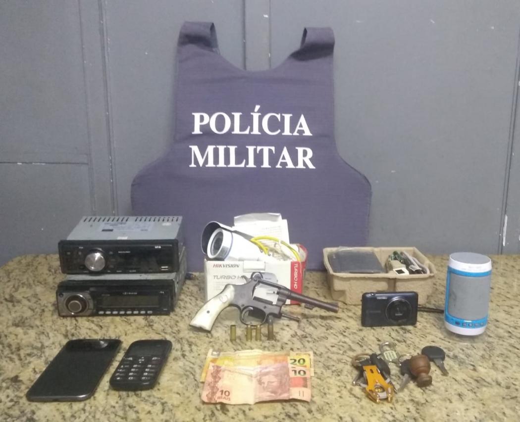 O material apreendido foi levado para a 7ª Delegacia Regional de Cachoeiro . Crédito: Divulgação -  Polícia Militar