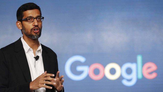 """O diretor executivo da Google, Sundar Pichai, afirmou que empresa adotou """"linha mais dura sobre o comportamento inadequado de pessoas em posições de autoridade"""". Crédito: Tsering Topgyal / AP"""
