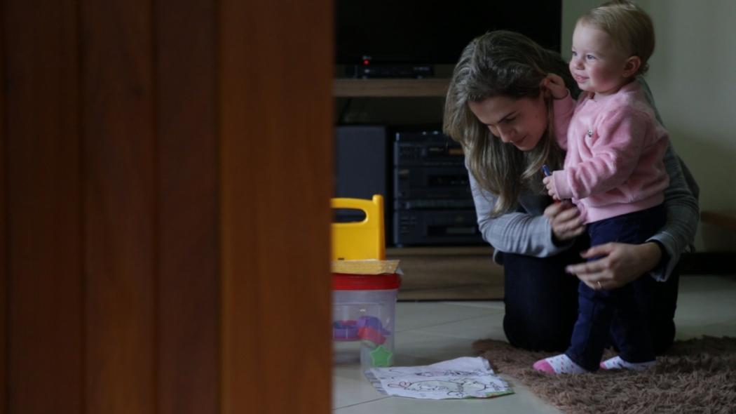 A empresária Salete Falchetto já se prepara para matricular a filha de um ano na Coopeducar. Crédito: Marcel Alves