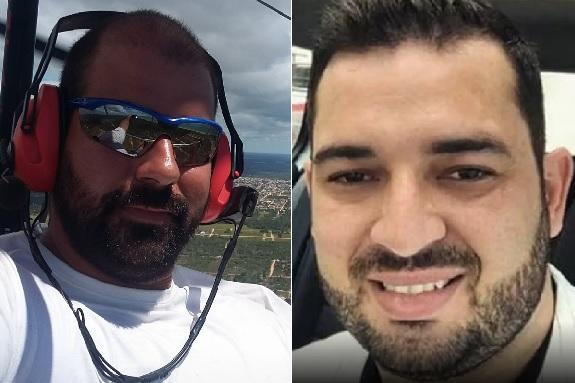 Mayke e Douglas desapareceram no dia 21 de setembro após decolarem em uma asa-delta motorizada. Crédito: Reprodução