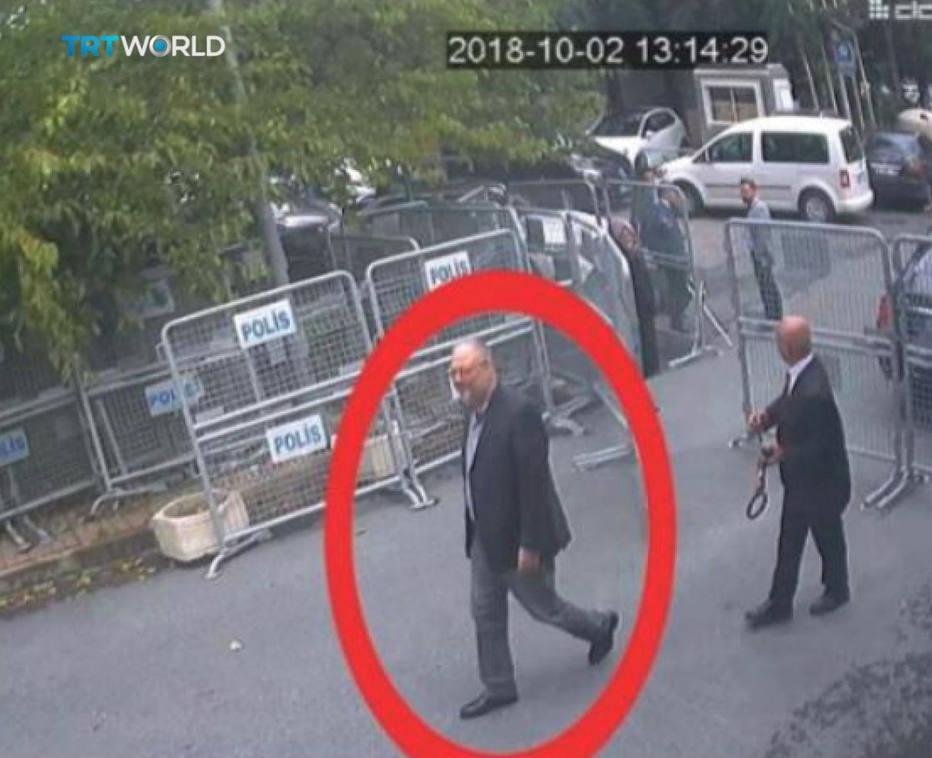Jamal Khashoggi entrou no consulado saudita em Istambul no dia 2 de outubro para resolver um trâmite burocrático e não saiu mais. Crédito: Reprodução