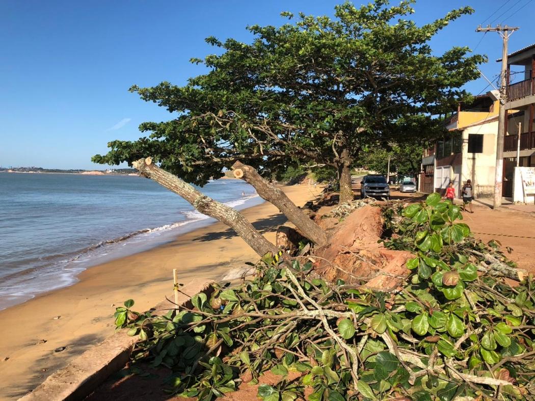 Praia de Meaípe, em Guarapari, atualmente. Crédito: Gabrielle Manganelli | TV Gazeta