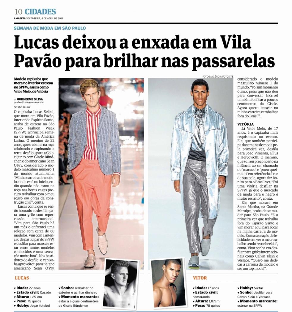 Jornal A Gazeta de 2014. Crédito:  A Gazeta