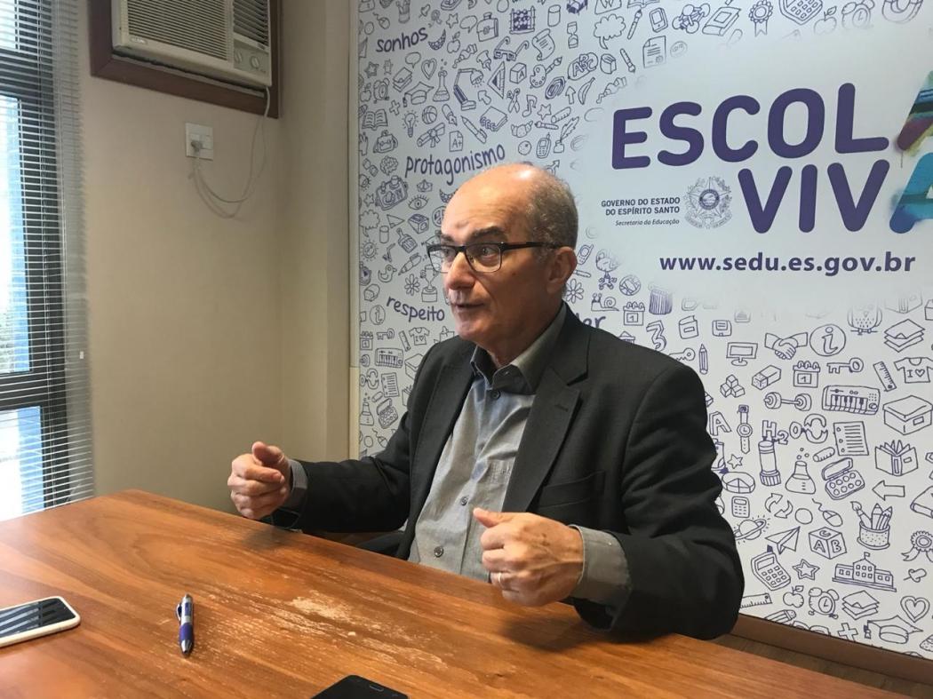 Secretário Estadual de Educação, Haroldo Rocha. Crédito: Lara Rosado