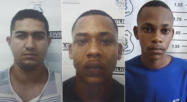 Juan Luiz Inoch e Márcio Vinicius de Jesus Ribeiro e Julismar Corrêa da Silva foram presos. Crédito: Divulgação