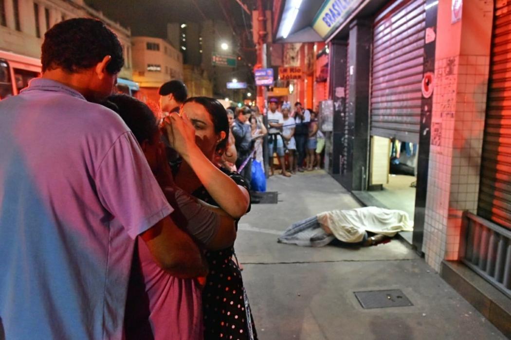 Assassinato do segurança Fábio Gonçalves aconteceu na Av. Jerônimo Monteiro, em Vitória, no dia 30 de outubro. Crédito: Fernando Madeira