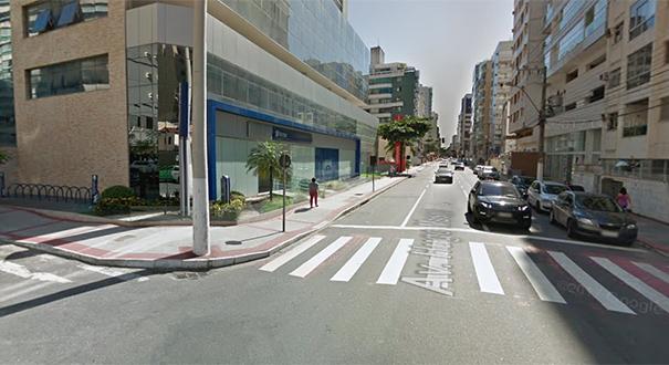Região onde o carro da médica foi encontrado. Crédito:  Google Street View