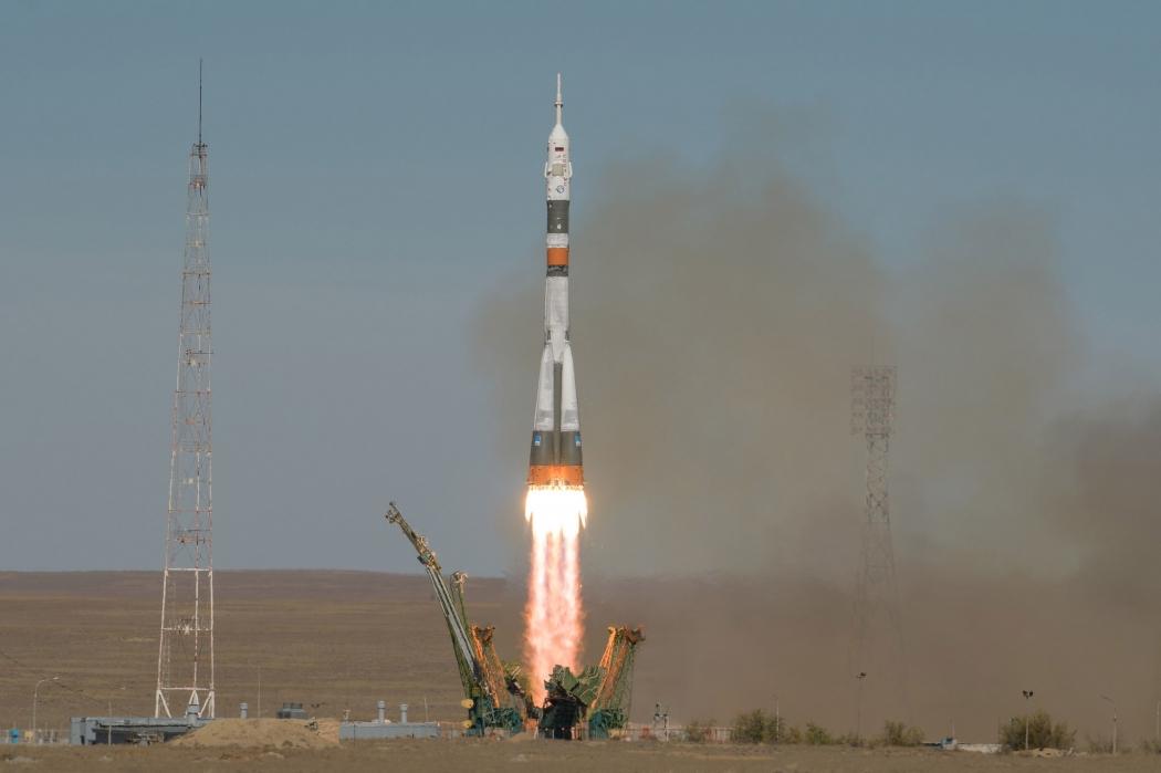 O foguete Soyuz . Crédito: Fotos públicas/Reprodução Nasa