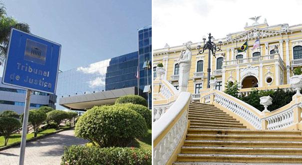 Tribunal de Justiça e Palácio Anchieta, sedes do Judiciário e Executivo: gratificações nas folhas de pagamento. Crédito: Fernando Madeira