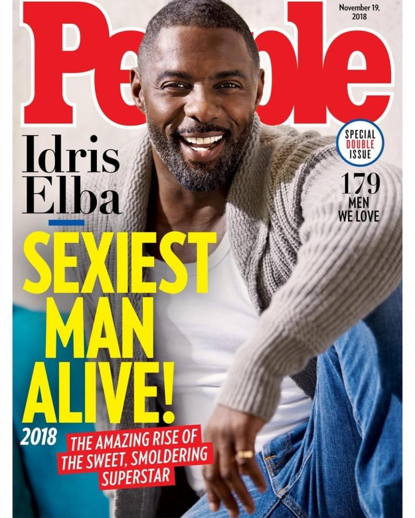 06/11/2018 - Idris Elba é eleito o homem mais sexy do mundo pela revista People. Crédito: Divulgação/People