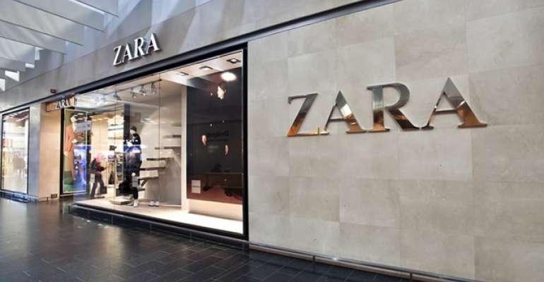 Fachada da loja da Zara. Crédito: Shutterstock