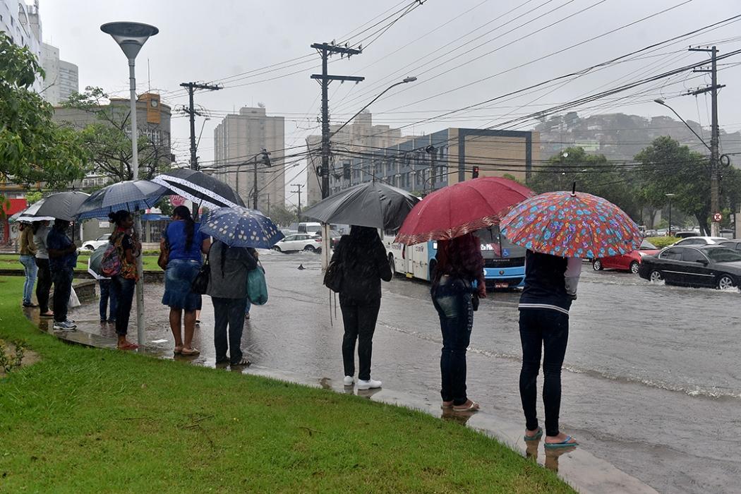Pode chover de forma moderada nesta semana em todo o Espírito Santo. Crédito: Fernando Madeira