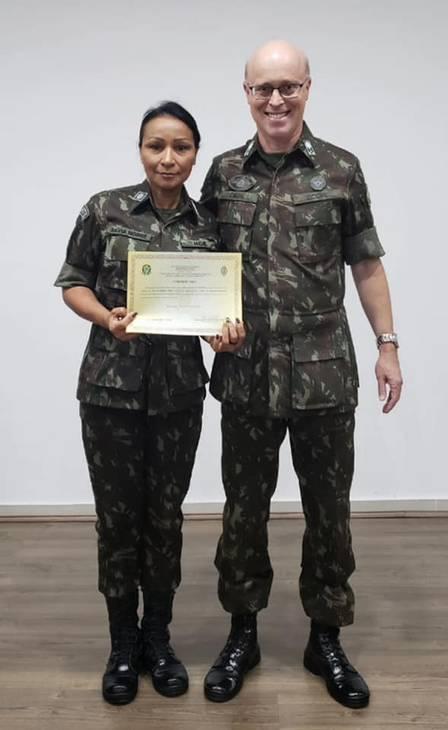 Silvia Nobre Waiãpi foi a primeira indígena a integrar o Exército. Crédito: Reprodução