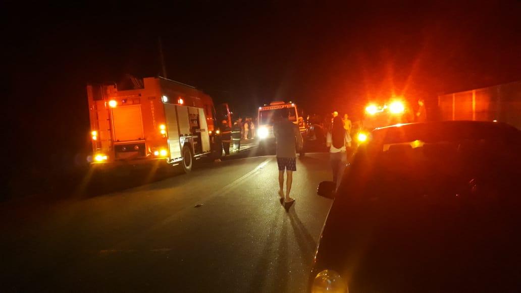 Na Rodovia ES 164,  o motorista de um veículos chegou a ser socorrido, mas não resistiu . Crédito: Internauta  -  Rael Sérgio das Neves