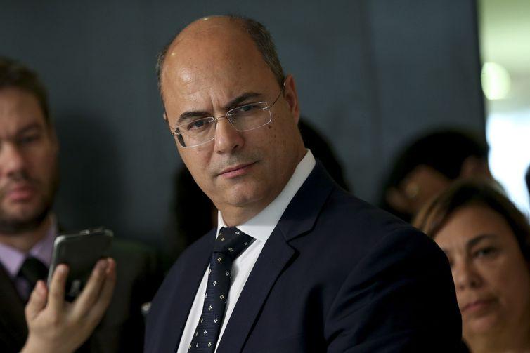 O governador eleito do Rio de Janeiro, Wilson Witzel, fala à imprensa após reunião com o presidente Michel Temer, Palácio do Planalto. Crédito: Windows)