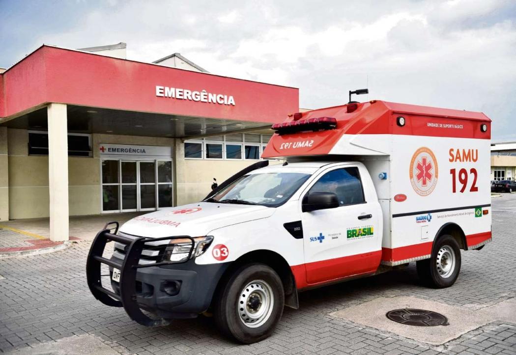 Emergência do Hospital Jayme dos Santos Neves. Crédito: Fernando Madeira | Arquivo