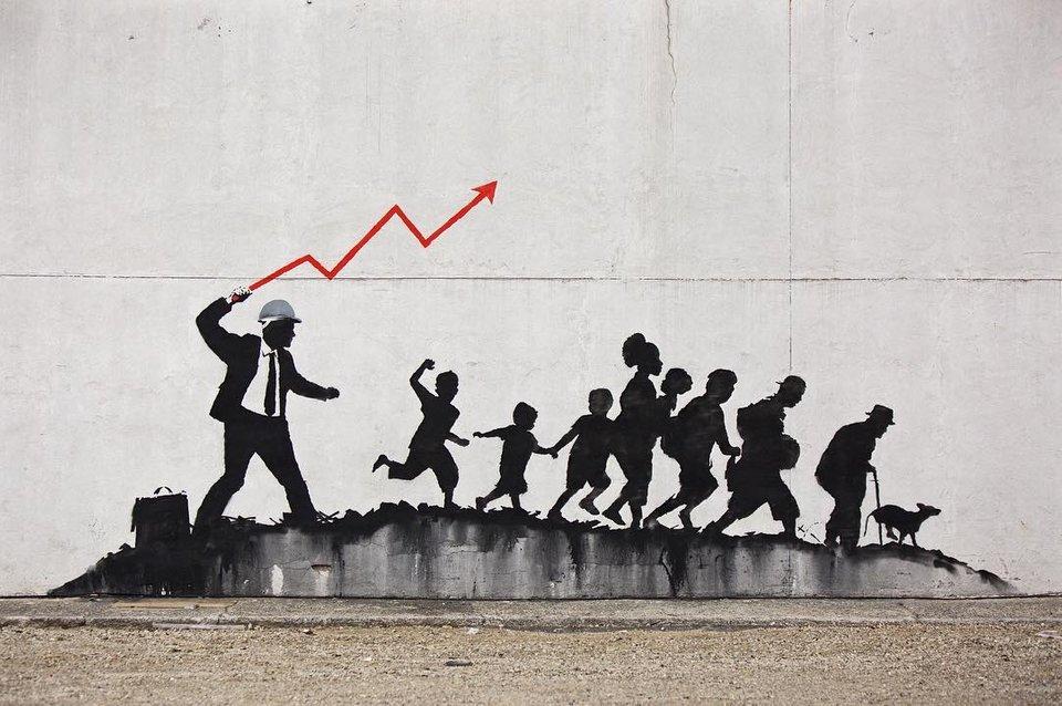 . Crédito: Banksy/ Divulgação
