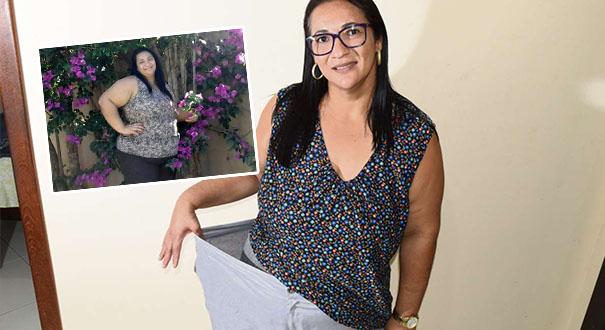Antes e depois da Vanessa Rigoni. Crédito: Acervo Pessoal/Carlos Alberto Silva