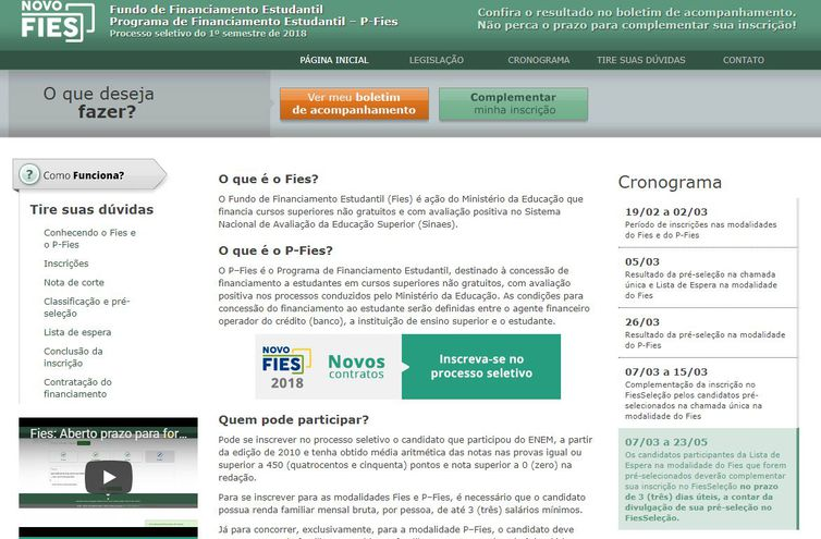 Renovação de contratos feitos no primeiro semestre deste ano deve ser feita até o próximo dia 30  . Crédito: Arquivo/Agência Brasil