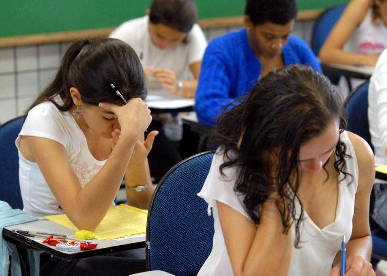 Enade: estudantes fazem prova para avaliar o aprendizado de universitários em diferentes cursos. Crédito: Wilson Dias/Arquivo Agência Brasil