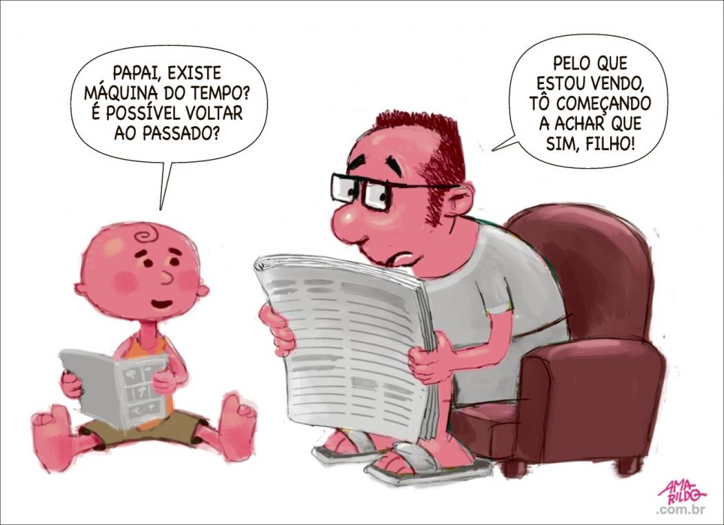 Charge do Amarildo - 26/11/2018. Crédito: Amarildo