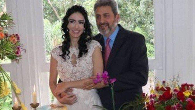 Casamento de Sérgio e Cristiane. Crédito: Reprodução