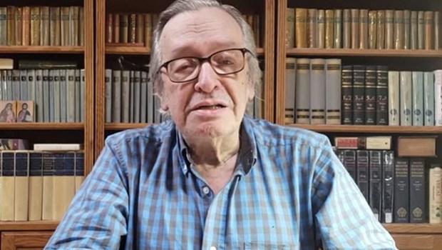 Escritor Olavo de Carvalho, ex-astrólogo. Crédito: Reprodução