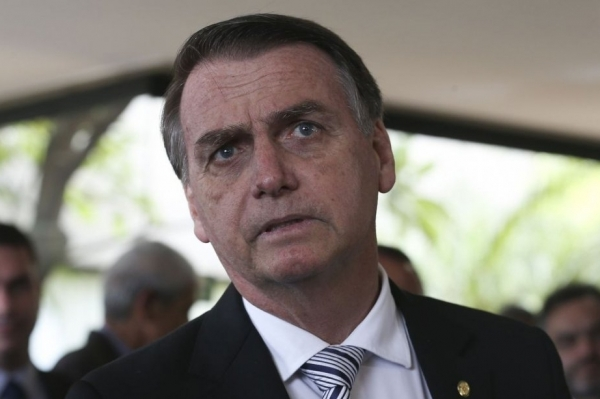 O presidente eleito Jair Bolsonaro durante visita ao Superior Tribunal de Justiça (STJ). Crédito: José Cruz/Agência Brasil